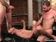 Three hot horny gay guys have great