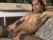 Big tit latina redhead solo spank