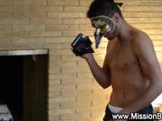 masked guy films him