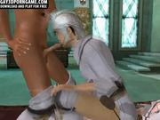 3D knight threesome in palace