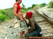 thug gives head by train tracks
