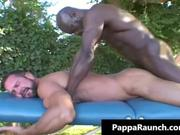 Big Black Muscle Cock Rips White Azz