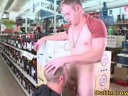 Cute gay dude finds a guy to suck