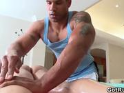 Hot erotic massage before amazing gay