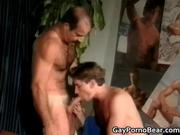 Two gay guys have fun sucking hard cock