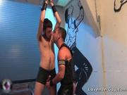 Awesome BDSM gay sex scene with spanking