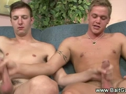 2 straight guys jerk and suck each other off