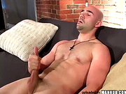 Bald cutie wanks his wiener
