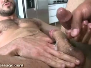 Watch me cum all over his cock and balls