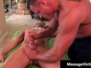 Sexy oily massage turns nasty for this