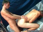 Horny bareback gay dudes suck hard cock