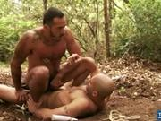 BDSM Outdoor Cock Riding Act With Trey Walker