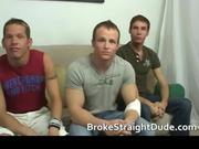 Super horny hetero guys jerking, fucking