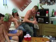 College guys having orgy