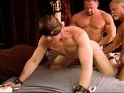 His first CBT ball bashing group sex.