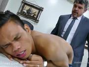 Daddy and Asian Twink Jordan Bareback