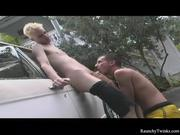 Hot carwash outdoor sex