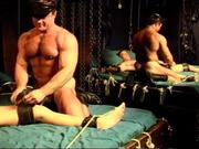Bodybuilder CBT session with y-ung stud.