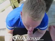 ManRoyale Gay Pride Dildo Loosens Tight Ass
