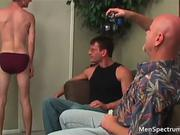 Exciting homo manage a trios with sexy