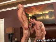 porn stud Austin Wilde blowjob rimming