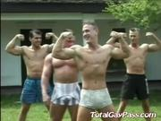 Sexy hot big muscle gathering