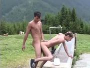 Two Naughty tw-nks Outdoors Hardcore Banging