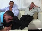 Strong gay porn at home
