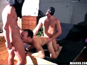 Trey pWNS the glory hole and then fucks