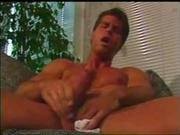 Hunk pornstar big dick handjob and cumshot