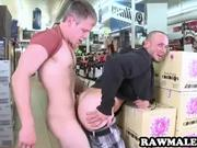 Hunk fucked in a liquor store