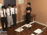 Teacher encourages extracurricular gangbang