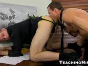 Stud gets fucked in the office