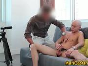 Bald guy Mathew gives hot blowjob