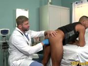 Bear doctor fingers and sucks