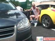Blonde guy getting arse drilled