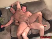 Hairy straight guy gets his ass fucked
