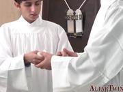 Teen catholic altarboy blows cum load