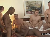 Interracial Gay Gangbang