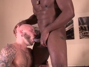 Two interracial alpha males fuck &amp; suck dick
