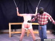 Tied up and spanked by masked villain
