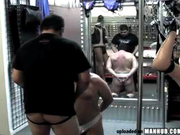 Kinky bear sexual acts in an adult toy shop