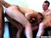 A bareback threesome fuck for the ages