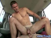 Straighty gay anal cumshot