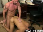 Gay XXX Pervy boss Mitch Vaughn lastly digs