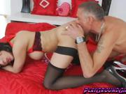 Horny Shemale Bonked and Rimmed