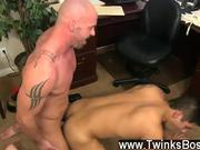 Hot gay sex Pervy boss Mitch Vaughn lastly