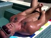 Pornstar hunk jerk off cumshot