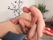 Hot BF gets his ass fucked on couch