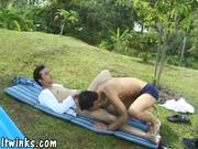 Fresh Latin camper gets ass-fucked